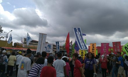 People Protest against Martial Law & Fascism on day of SONA