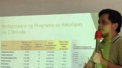 Focus Philippines' Togs Baladad compares the performance of agrarian reform programs under different presidencies.