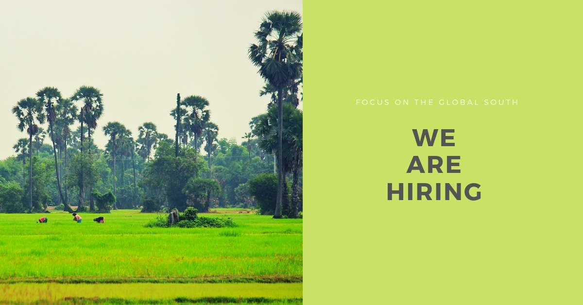 Job post: India Programme Officer (Agriculture Policy)