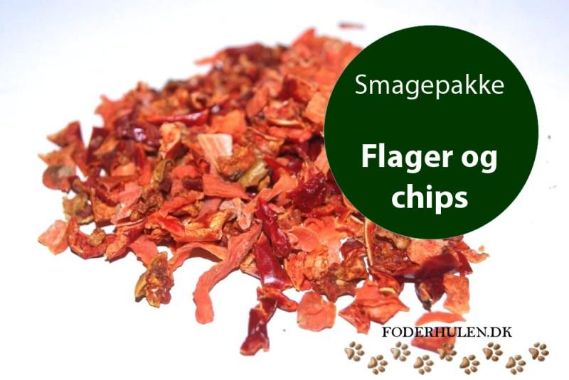 Smagepakke med chips og flager - Foderhulen.dk - Smagepakke
