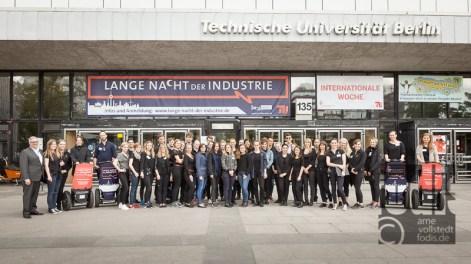 Die Lange Nacht der Industrie in Berlin 2015 - Teamfoto