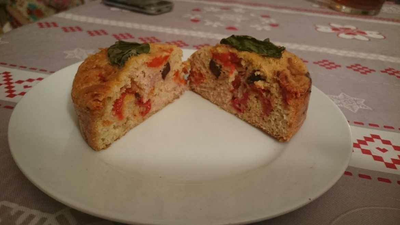 Cake jambon olives poivron pauvre en FODMAP 5