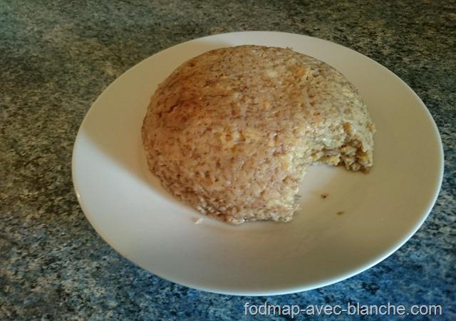 Recette Bowl cake à la banane pauvre en FODMAP, sans lactose, sans gluten 6