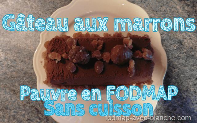 Recette du Gâteau aux marrons, sans cuisson, pauvre en FODMAP, sans lactose et sans gluten