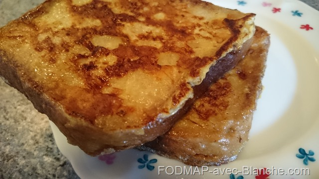 Recette pain perdu pauvre en FODMAP sans gluten