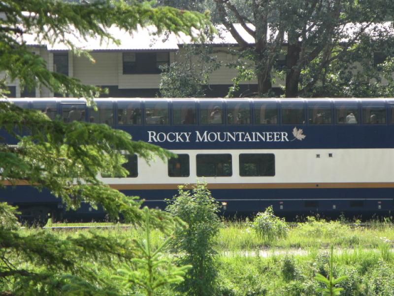 Rocky Mountaineer Train (near Field, BC)