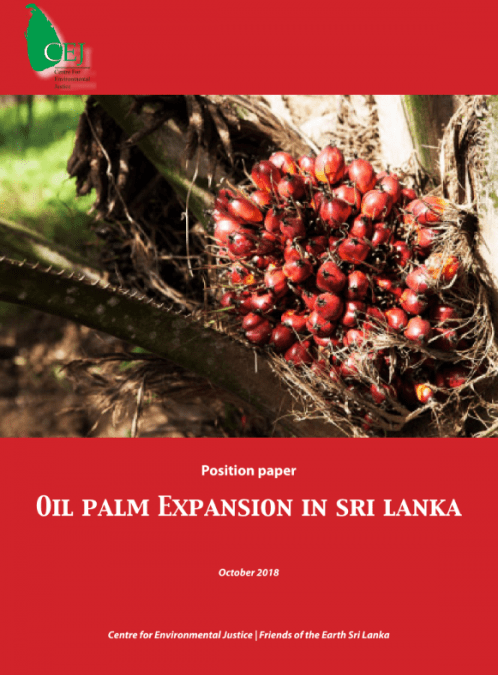 Oil Palm Expansion in Sri Lanka