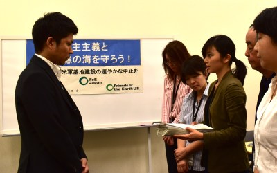 International Environment NGO Submits Petitions Against the Construction of Henoko US Military Base Both in Japan and the US. Voices of 19,406 US and Japanese citizens