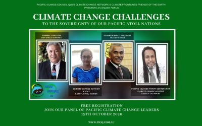 Forum: Climate Change Challenges to the Sovereignty of our Pacific Atoll Nations