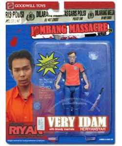 jagal jombang, action figure, ryan heriyansyah, jagal ryan, jagal gay, pembunuh, serial killer, pembunuh serial, very idam henyansyah, jombang massacre