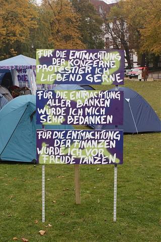 Die Forderungen der Kieler Occupy Bewegung (Foto: AR)