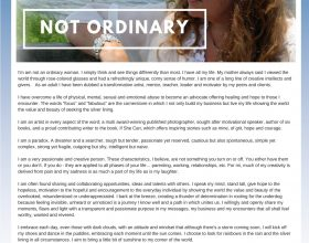 Not ordinary
