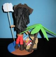 Fofucha personalizada Pirata Mamen y su bebé (trasera)