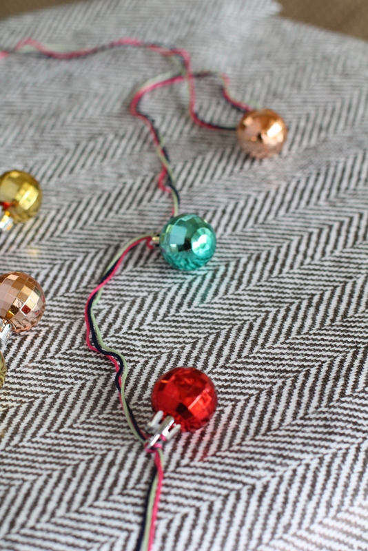 foggy dress christmas garland