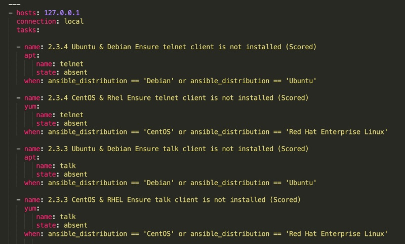 Ansible playbook to uninstall the talk client
