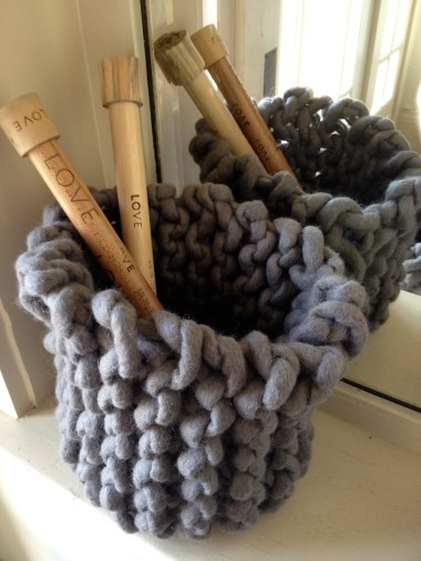 tough love knit basket