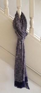 stingray eggplant scarf knit scarf stockinette stitch