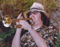 Emery on trumpet in his witness protection days