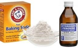 baking soda & hydrogen peroxide
