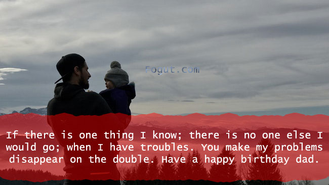 If there is one thing I know; there is no one else I would go; when I have troubles.