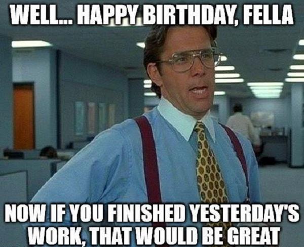 office birthday meme