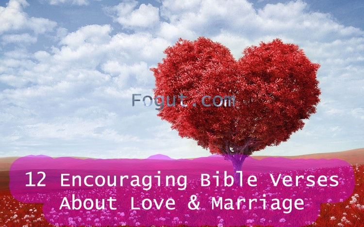 12 encouraging bible verses about love marriage