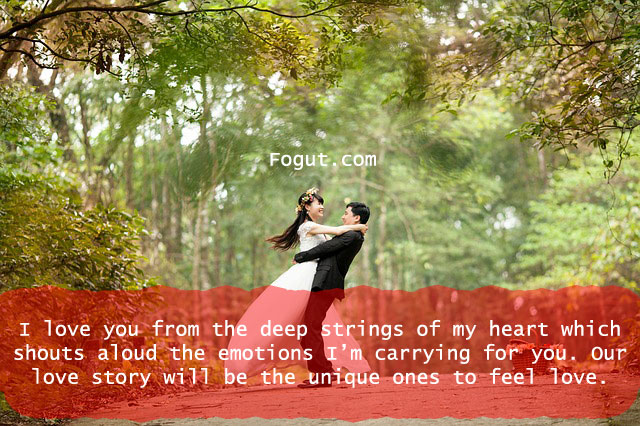I love you from the deep strings of my heart