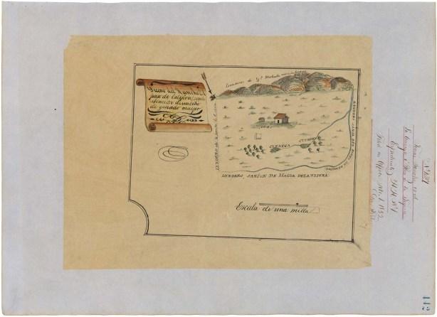 Like this 19th-century California claim map, good FOIA regulations help lead the way.  (ARC Identifier 595794)