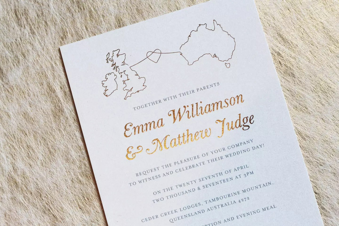 Stationery For A Wedding Abroad