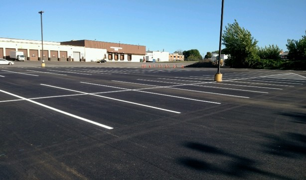 large view of parking lot B
