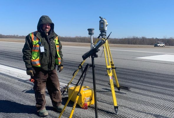 Foit-Albert Surveyors at Buffalo Niagara International Airport runway work