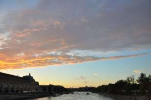 Le couche du soleil vu du pont