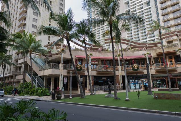 Waikiki Beach Walk Shopping Center Lewers Street Honolulu