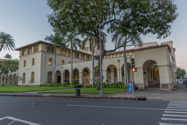 fokopoint-9382 US Post Office, Custom House, and Court House in Honolulu