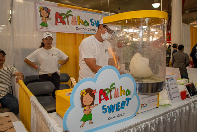 aloha-sweet-cotton-candy-fokopoint-1135-1 Food and New Product Show at the Blaisdell