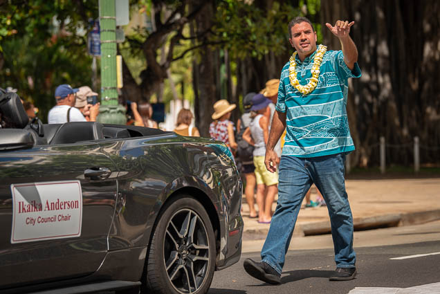 ikaika-anderson-city-council-chair-floral-parade-2019-aloha-festivals-fokopoint-honolulu-9449 73rd Annual Floral Parade
