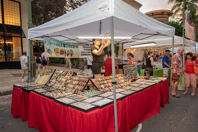 sterling-silver-tungsten-opal-koa-vendor-fokopoint-1254 Waikiki Bazaar Festival