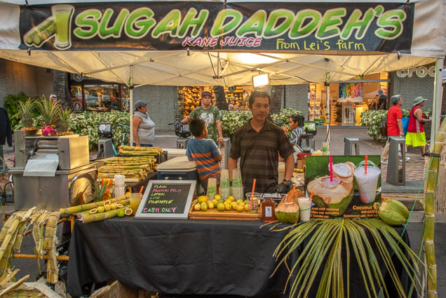 sugah-daddehs-kane-juice-leis-farm-fokopoint-1271 Waikiki Bazaar Festival