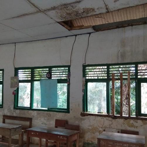 Bangunan SDN 1 Sinar Harapan Lampung Utara Hampir Ambruk Total
