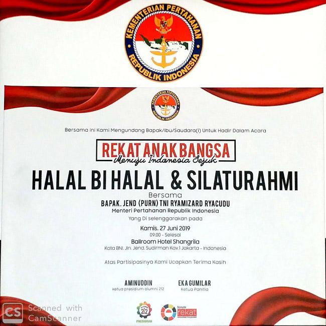 Undangan Halal Bi Halal dan Silaturahmi PA 212