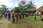 TNI dan Polri Polsek Kahayan Kuala Sosialisasi Himbauan Pakai Masker