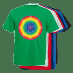 Floarea Vietii imprimata pe tricouri barbatesti