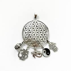 Pandantiv multiple simboluri sacre din argint