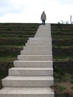 Steps, on the way to Fort Thüngen