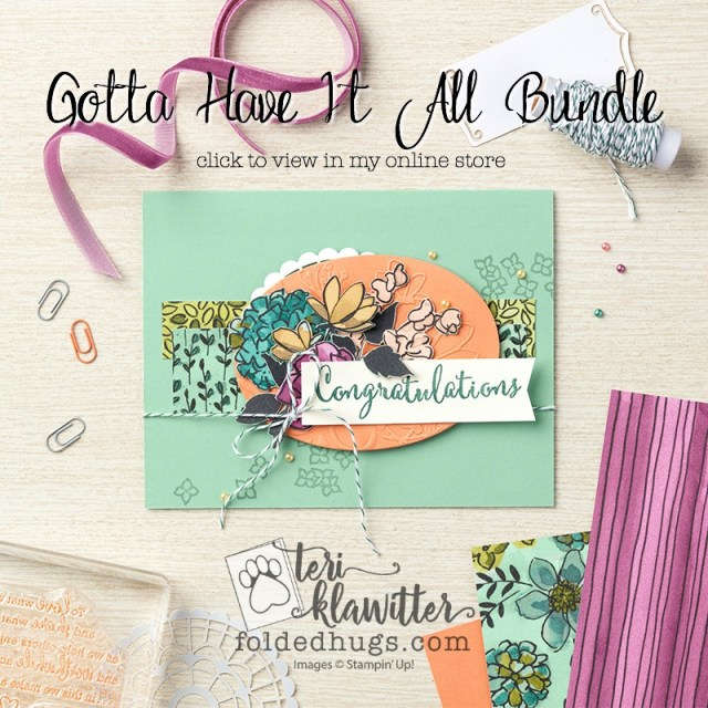 Share What You Love Gotta Have It All Bundle by Stampin' Up! 2018-2019 Annual Catalog Early Release #terriklatwitter