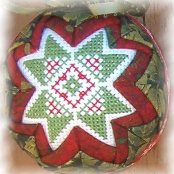 Green Folded Star Ornament