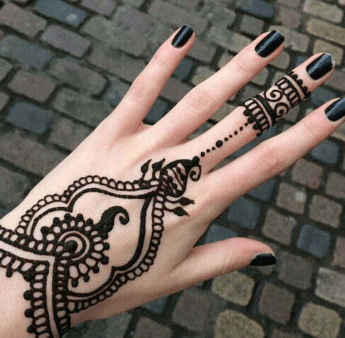 Simple Mehndi Tattoo Hands : Lovely heart shaped mehndi designs folder