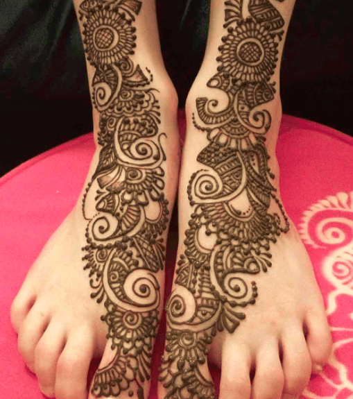 Leg Mehndi Designs Easy Only : Top fabulous bridal mehndi designs folder