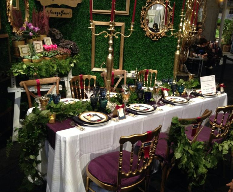 Chicago Flower&Garden Show- Tablescapes - Navy Pier   Chicago