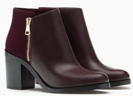 strd HIGH HEEL ANKLE BOOTS WITH ZIP DETAIL 3990